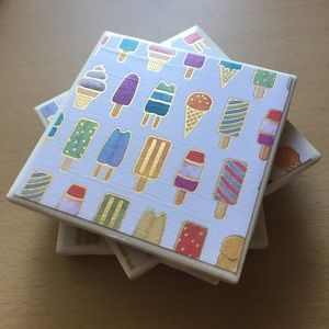 Popsicle Coasters - Set of 4
